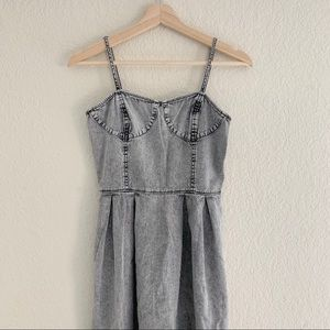 FRENCHI GRAY DENIM DRESS (0811)